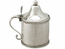 Sterling Silver Mustard Pot by Peter and Ann Bateman - Antique George III