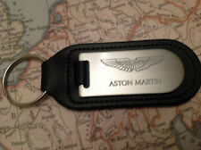 ASTON MARTIN KEY RING BLIND ETCHED ON LEATHER VANQUISH RAPIDE VANTAGE DB 7 9 DBS