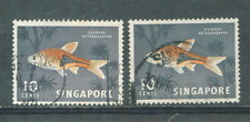 S'pore definitive 10 cents X 2 1962 used  # E 82