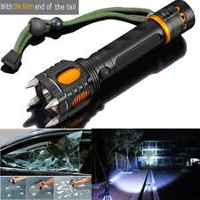 6 Modes 2000LM Tactical Self-Defense Audible Alarm Cree XM-L T6 LED Flashlight