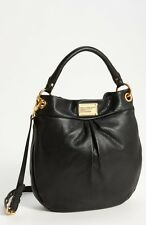 NWT  MARC by MARC JACOBS Classic Q Hillier Leather Hobo/Shoulder Bag BLACK $428