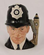 """Royal Doulton Miniature Character Jug Mug The London Bobby D6763 2.5"""" Big Ben"""