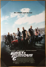 FAST & AND FURIOUS 6 MOVIE POSTER 2 Sided ORIGINAL FINAL 27x40 DWAYNE JOHNSON