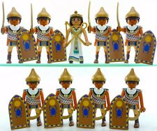 Playmobil 9 EGYPTIAN FIGURES Guards Soldiers Queen Cleopatra Shields Accessories