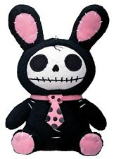 "NEW 6"" Furrybones Furry Bones Black Bun Bun Small Plush Skull Skeleton Gift 1121"