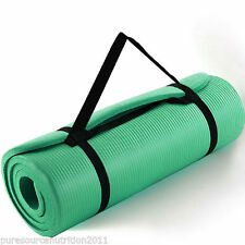 1.5cm Thick Yoga Mat Green  Exercise Workout Pilates Gym Mats Non Slip Sit Ups