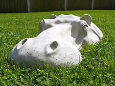 "Hippo, Hippopotamus Head Lawn Garden Ornament, 22"" Sculpture, Outdoor Statue"