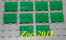 Lego Green Plate Modified 1x2 with Door Rail 10 pieces NEW