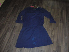 Neu edc by Esprit Kleid Gr.36 S Dunkel Blau mit 3/4 Arm Freizeit Jerseystoff