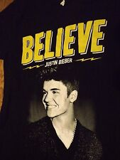 Justin Bieber Believe Live 2013 Tour T-Shirt Adult Size Small by Alstyle