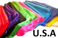100% Silk Veils Belly Dance Shawl Top Quality & Hemmed USA STORE