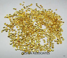 2.0 MM 100 pcs Round Diamond Cut Natural Yellow Sapphire