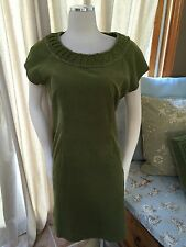 Boden Moss Green Corduroy Shift Dress US 8 UK 12 Excellent