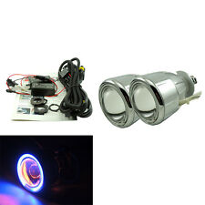 "2.0"" Universal Car Headlights HID Bi-Xenon Projector Lens Kit Halo Angel Eye 55W"