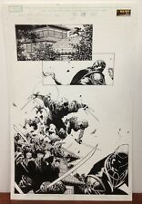 NEW AVENGERS #11 p. 18 RONIN 1st Appearance Original Comic Book Art DAVID FINCH