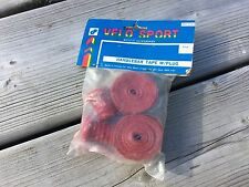 VINTAGE BIKE BICYCLE VELO SPORT RED BAR TAPE W/ CAPS HANDLEBAR TAPE BARTAPE NOS