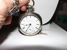 "ELGIN POCKET WATCH 7 JEWELS ""WORKS PERFECT"" VERY RARE ANTIQUE ""MINT CONDITION"""