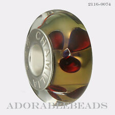 Authentic Chamilia Murano 24K Collection Paradise Gold Bead 2116-0074