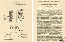 Berliner MICROPHONE Patent Art Print READY TO FRAME!!!!!!! 1879 Emile Mic