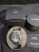 CITIZEN ECO DRIVE BLUE ANGELS SKYHAWK AT RADIO CONTROLLED CHRONOGRAPH WATCH SS