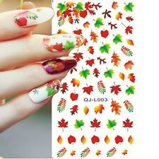 DIY Maple leaf autumn Fall Tip Nail Art Decal Nail Sticker Gel Nails  Butterfly