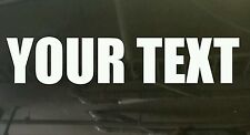 Custom text words anything you want vinyl cut car boat sticker at 400 x 50 mm