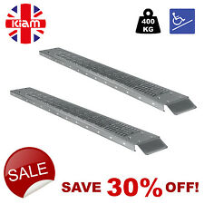 SET OF TWO RAMPS 1.85m 400kg WHEELCHAIR ACCESS RAMPS