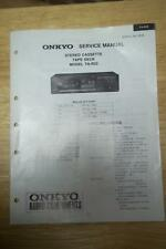 Onkyo Service Manual for the TA-R22 Cassette Tape Deck ~ Repair Manual