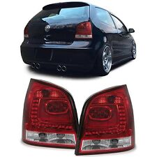 CLEAR 6R STYLE LED REAR TAIL LIGHTS LAMPS FOR VW POLO 9N3 06/2005-05/2009 v4