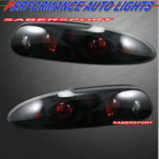 1993-2002 CHEVY CAMARO ALTEZZA STYLE TAIL LIGHTS BLACK HOUSING SMOKE LENS PAIR