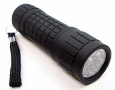 9 LED Black Soft Grip Torch Flashlight Camping Lighting Lamp Tools 81339C