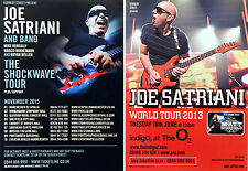 5 X JOE SATRIANI FLYERS - 2015 THE SHOCKWAVE TOUR & 2013 TOUR