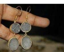 Gold Fill Gold Plated Druzy Earring, Gold Vermeil Druzy Earring,Gemstone Earring