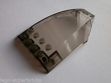 Lego (part no 45705) Windscreen 6 x 10 x 2 Curved in Smoke