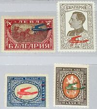 BULGARIA BULGARIEN 1927 206-09 C1-C4 Airplanes Flugzeuge Air Mail ovp MNH MLH