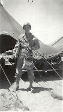 WWII Org Large Army RP- Soldier- Desert- Tent- Helmet- Gasmask- Holds OD Bag
