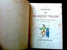 FRANCOIS VILLON - Rombaldi 1950 - ex numéroté - Aquarelles de Jacques TOUCHET