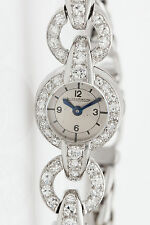 Vintage $10,000 1.50ct VS G Diamond Jaeger LeCoultre Ladies Platinum Watch