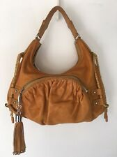 Botkier Yellow-Brown Leather Hobo Shoulder Bag