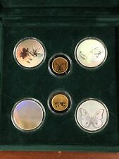 1998 6 Piece True Color Hologram Proof Set Silver Gold .999 St. Thomas Prince