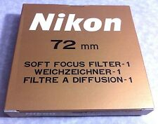 Nikon 72mm Soft Focus Filter #1 No.1 Glass Lens Filter 72 mm Japan Genuine