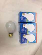60A19/FR 60 Watt A19 20,000 Hour Rough Serv Super LongLife FROST Light Bulb 3-pc