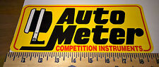"""AUTO METER COMPETITION INSTRUMENTS ~ STICKER ~ DECAL ~ 9"""" X 3.75"""" ~ TRUCK ~ CAR"""