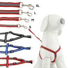 DOG HARNESS ADJUSTABLE NYLON HARNESSES COLLAR EASY TO USE WALKING NO CHOKE PET