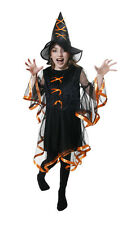 Halloween Girls Witches Costume & Hat 7-9 Years Fancy Dress Witch Trick or Treat
