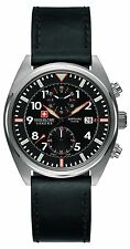 Swiss Military Men's SM34302AEU/H02S Quartz Watch with Black Dial Analogue Di...