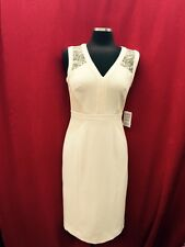 ANNE KLEIN DRESS/NEW WITH TAG/SIZE 6/LINED/RETAIL$169/LACE TRIMMING /LIGHT BEIGE