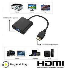 Salida HDMI de entrada para cable VGA Convertidor Adaptador Para Pc Tv Dvd Monitor Portátil UK