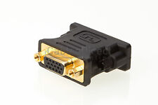 DVI I MALE DUAL LINK TO 24+5 VGA 15 PINS FEMALE ADAPTER PC MONITOR VIDEO LAPTOP