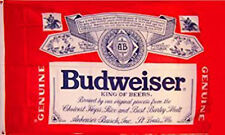 BUDWEISER BEER FLAG NEW 3X5FT babber sign